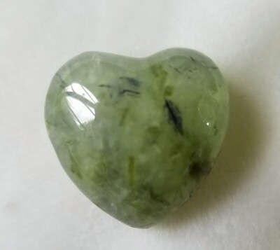 Prehnite Heart with Inclusions