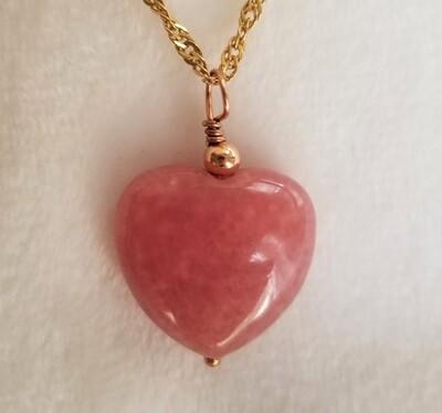 Rhodonite Heart Pendants4