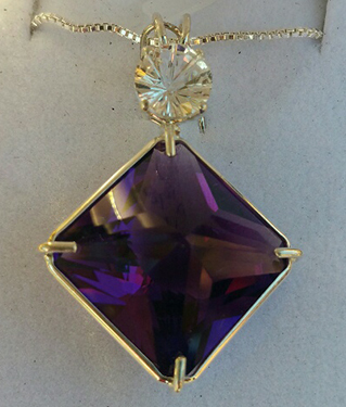 Siberian Purple Quartz Magician with White Topaz