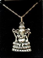 Ganesh Blessed Silver Pendant On Chain W/ Giftbox!