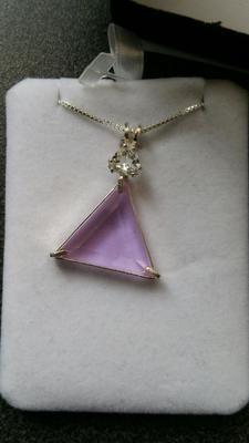 Ruby Lavender Vogel with Clear Quartz