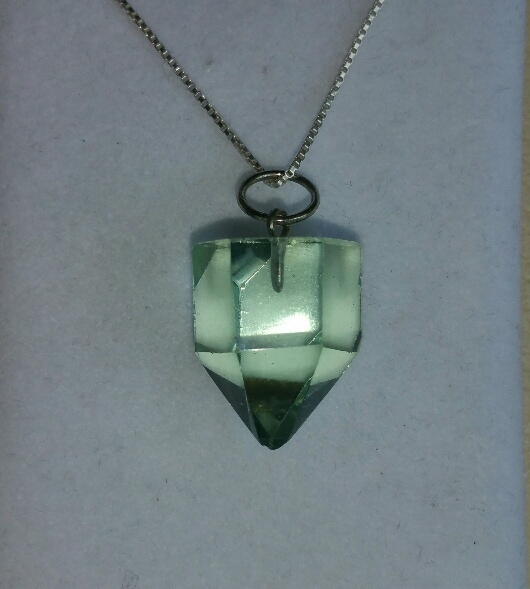 *NEW* Blessed Green Obsidian Crystal Points On Sterling Silver Chain - The Casa Healing Stone!