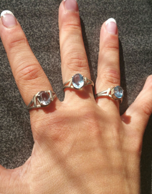 Casa Rings *NEW* Little Aquamarine  - Only 3 Available! Chakra Healing
