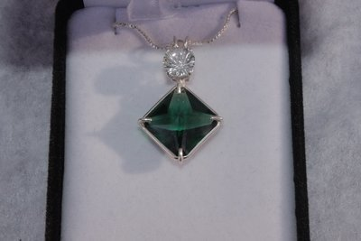 Siberian Green Magician with White Topaz