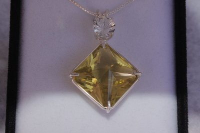 Citrine Magician with White Topaz