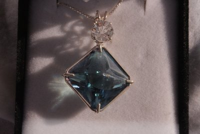 Aqua Aura Magician with White Topaz