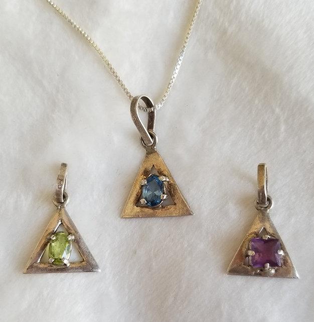 Handmade silver small triangle