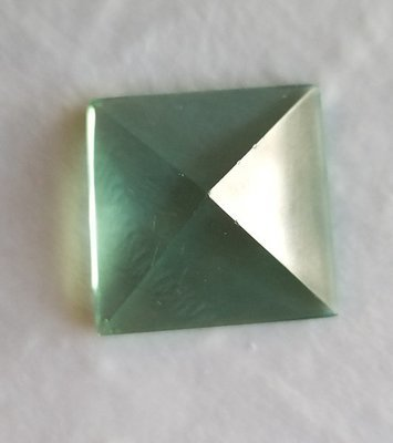 New green obsidian pyramid