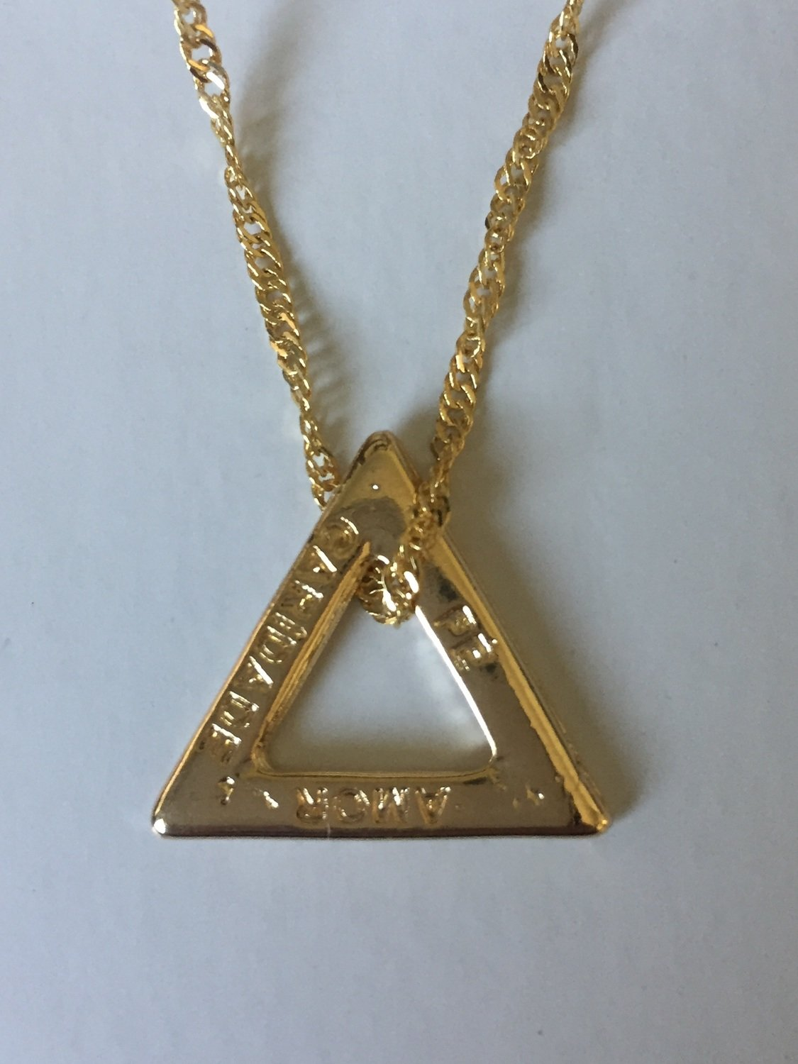 *NEW* John Of God Blessed Casa Gold or Silver Engraved Triangle Necklace