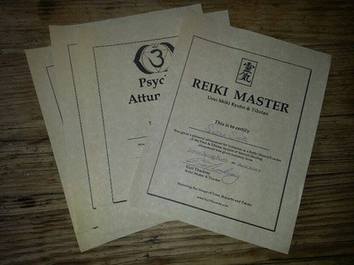 Distant Attunements Reiki 1,2,3, Master or Psychic (plus Certificate)