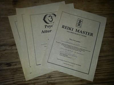 Reiki DVD Certificate