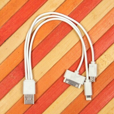 USB дата кабель 3 в 1 для Apple iPhone micro USB
