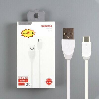 USB дата кабель HongYi Type-C (комплект из 2 штук)