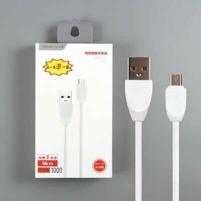 USB дата кабель HongYi micro USB (комплект из 2 штук)