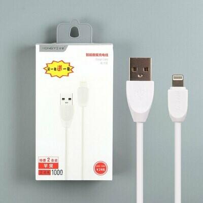 USB дата кабель HongYi для Lightning (комплект из 2 штук)
