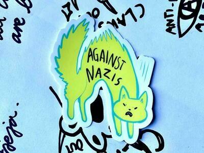 Against Nazis Waterproof Sticker