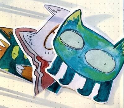 Large Cat Paper Sticker