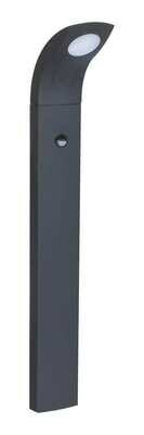 ProLuce® JESSICA/S Pollerleuchte 130x100x800mm, 6W, silbergrau, mit PIR Sensor