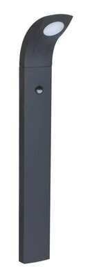 ProLuce® JESSICA/S Pollerleuchte 130x100x1000mm, 6W, silbergrau, mit PIR Sensor