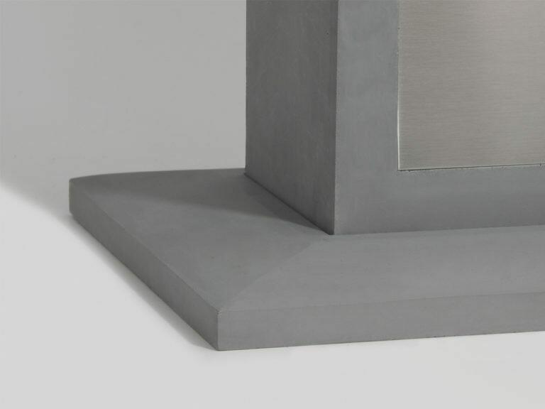 9010 Sockel für Pollerleuchten 1105B und 1105C, grau