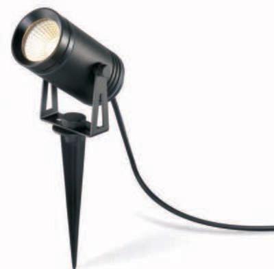ProLuce® REUBEN Spot mit Erdspiess Ø60x115mm, 6W, schwarz