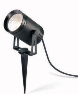 ProLuce® REUBEN Spot mit Erdspiess Ø79x113mm, 9W, schwarz