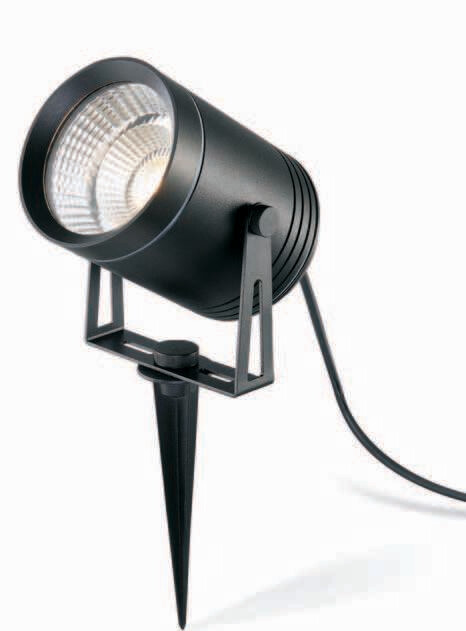 ProLuce® REUBEN Spot mit Erdspiess Ø102x140mm, 12W, schwarz