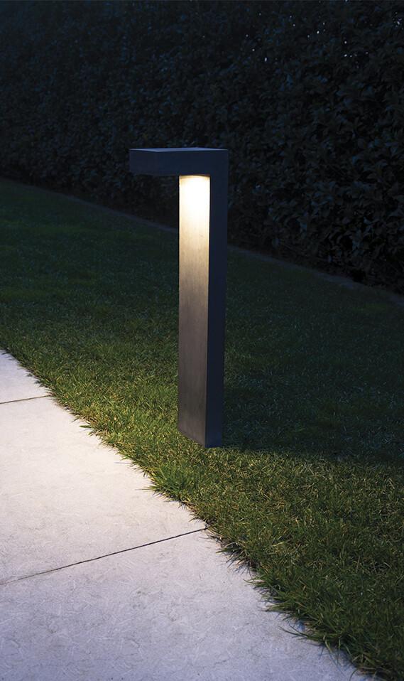 9010 Pollerleuchte 1093B LED 10W, IP65, grau, 500 mm hoch