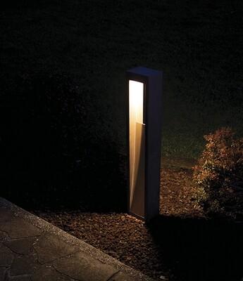 9010 Pollerleuchte DOUBLE LED 10W, IP65, grau, 1000 mm hoch