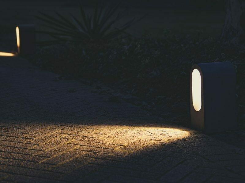 9010 Pollerleuchte BEAN LED 10W, IP65, Corten, 300 mm hoch