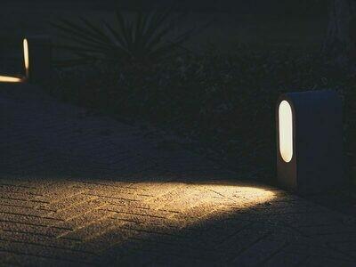 9010 Pollerleuchte BEAN LED 10W, IP65, grau, 300 mm hoch