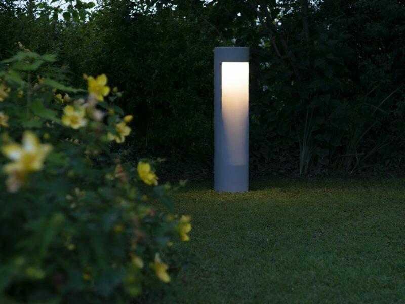 9010 Pollerleuchte LEVICO LED 10W, IP65, grau, 500 mm hoch
