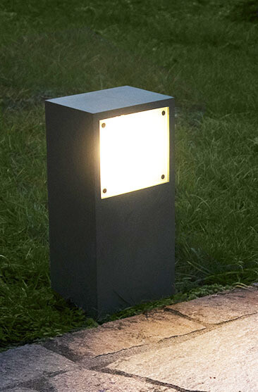 9010 Pollerleuchte 1111A LED 10W, IP65, weiss, 300 mm hoch