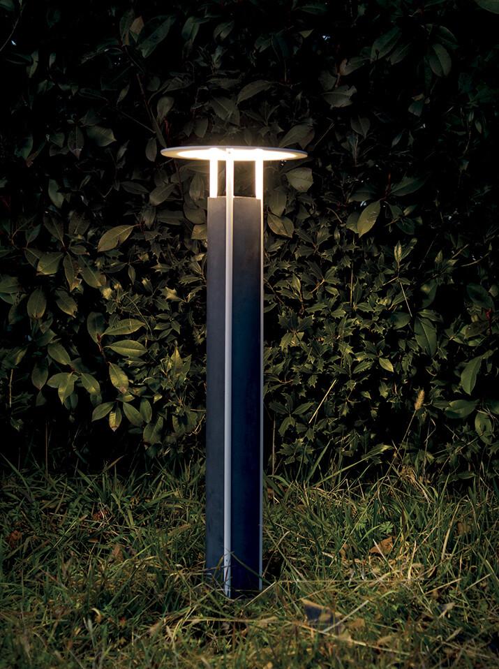 9010 Pollerleuchte ERCOLE LED IP65, grau, 780 mm hoch