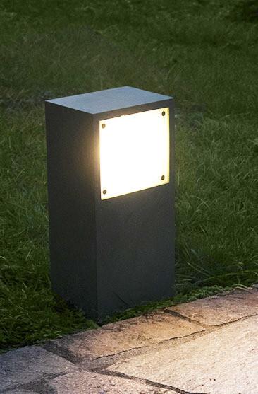 9010 Pollerleuchte 1111A LED 10W, IP65, grau, 300 mm hoch