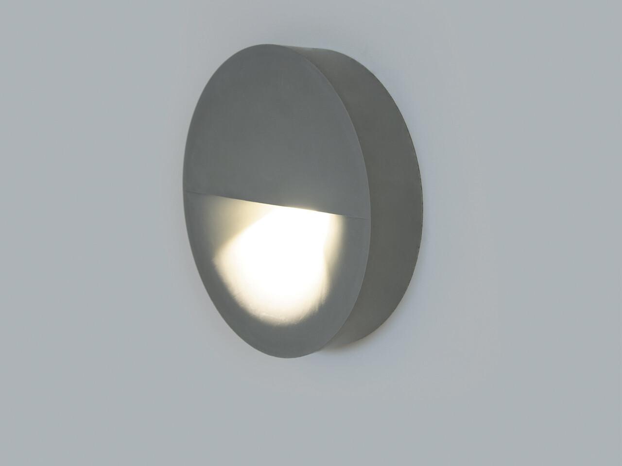 9010 Wandleuchte LEVICO LED 10W, IP65, grau