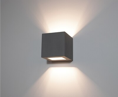 9010 Wandleuchte 1096B LED 10W, IP65, grau