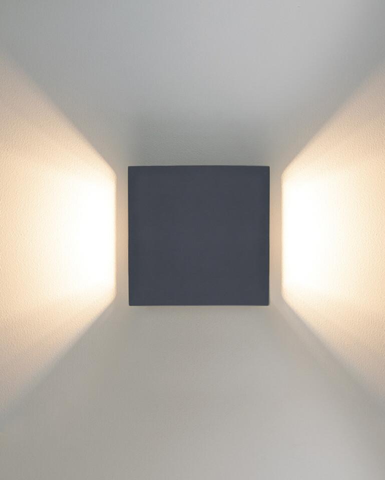 9010 Wandleuchte 1096C LED 10W, IP65, grau