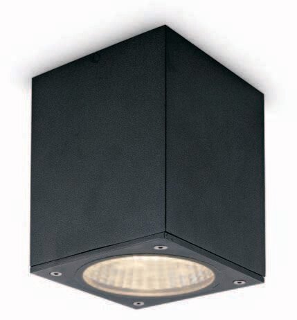 ProLuce® CEILING SQUARE Deckenleuchte 105x105x145m, schwarz