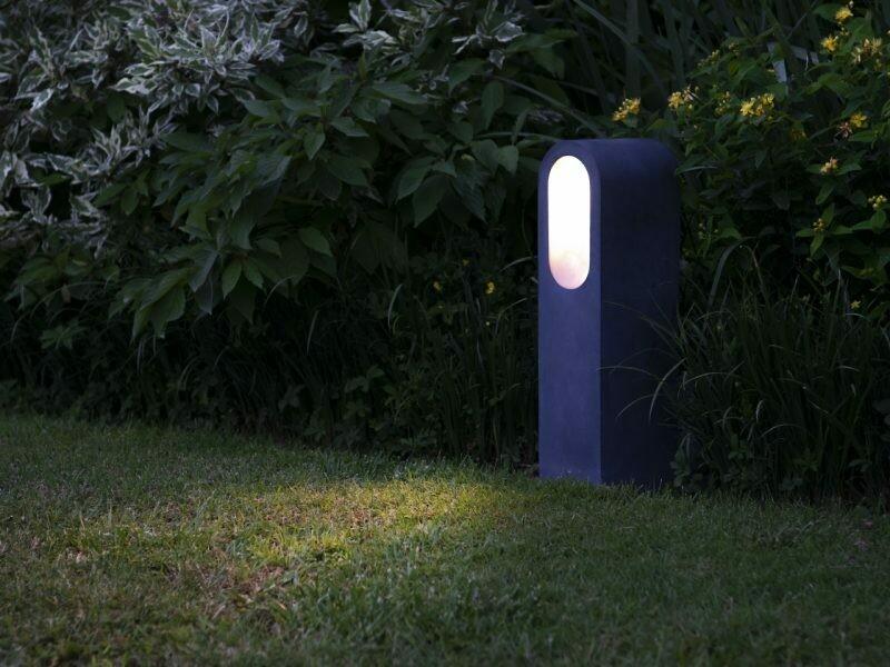 9010 Pollerleuchte BEAN LED 10W, IP65, Corten, 500 mm hoch