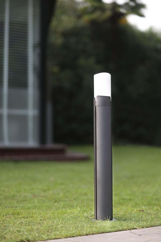 ProLuce® RUBY Pollerleuchte 140x140x600mm, 10W, silbergrau