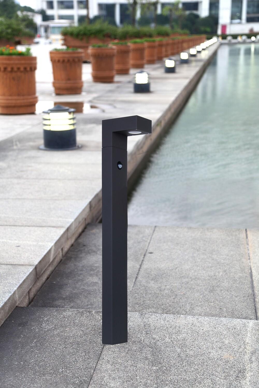ProLuce® DAISY Pollerleuchte 150x92x600mm, 6W, silbergrau