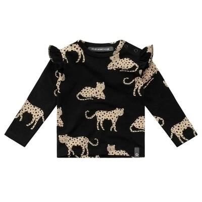 Wild Cheetah Ruffle Print