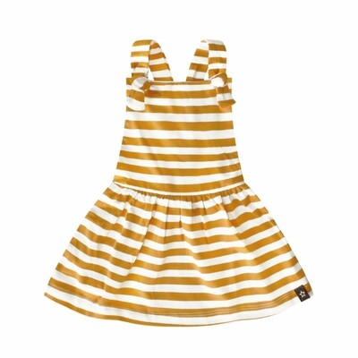 Ochre Stripes Dress stripe