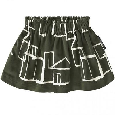 Crayon Town Skirt Print