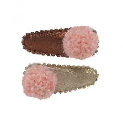 Clipje Pompom roze