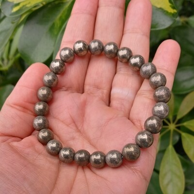 Pyrite Beads Stretch Bracelet