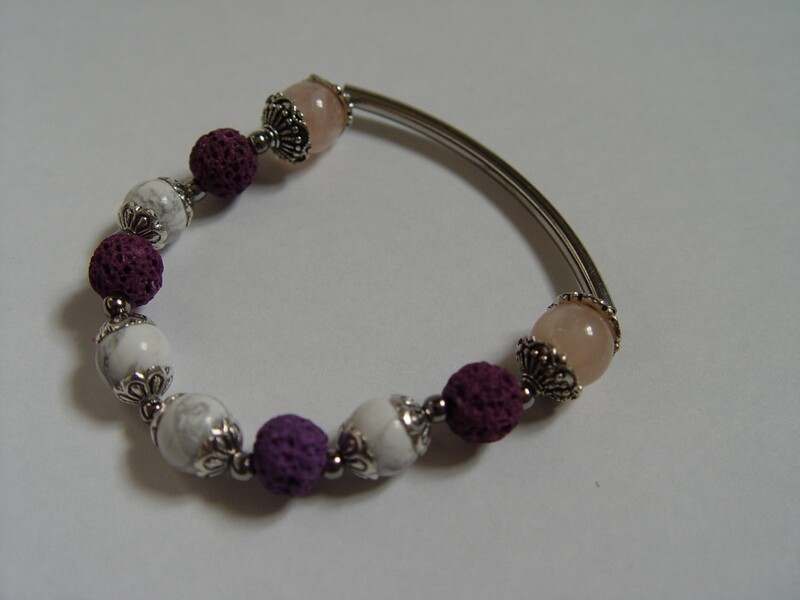 Lava Rock Purple Bracelet