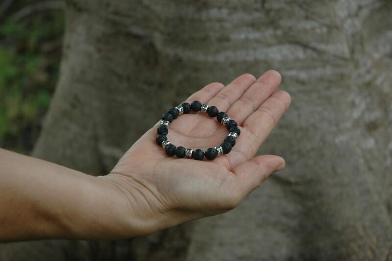 Natural Lava Rock  Bracelet