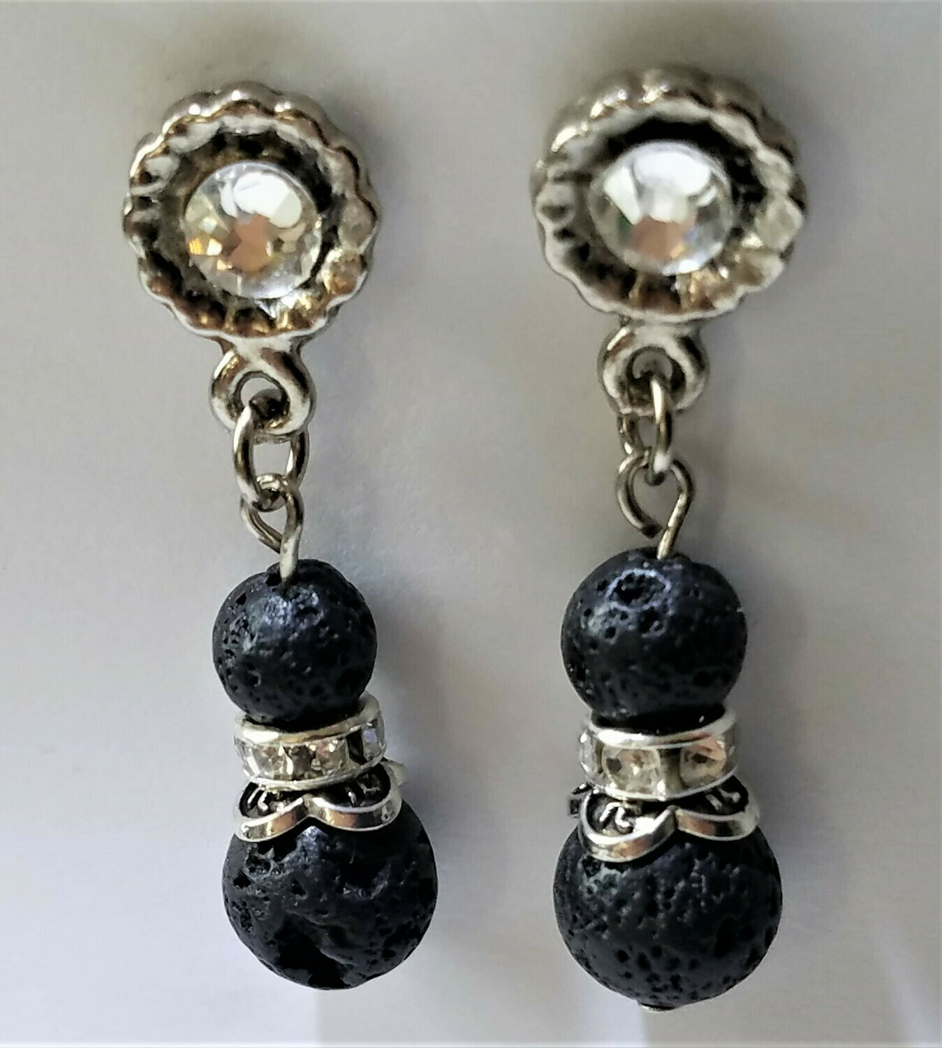 Lava Rock Earring